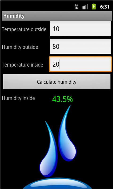 Humidity - screenshot