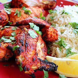 Tandoori Chicken with Basmati Rice.