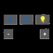 Widget BT Wifi SND FlashLight