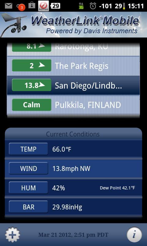 WeatherLink Mobile – Screenshot