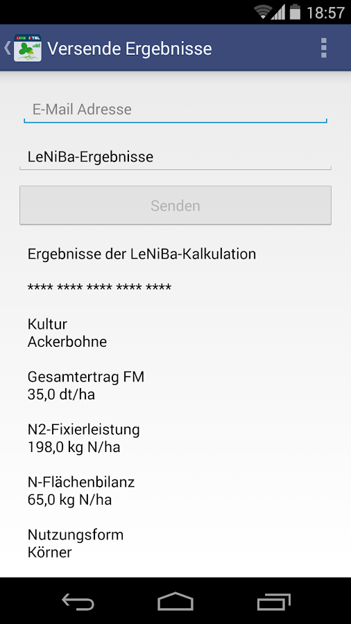 LeNiBa - N-Bilanz Leguminosen- screenshot