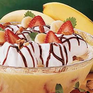 Banana Split Dessert With Vanilla Pudding Recipes.