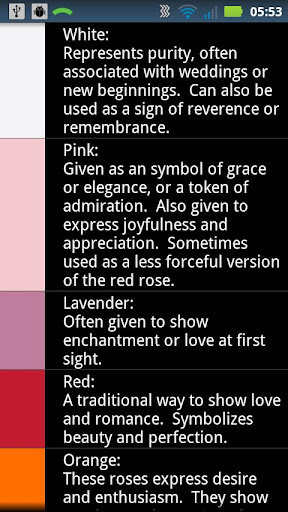Rose Color Reference