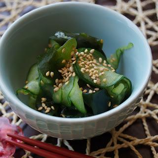Cucumber and Wakame Seaweed Sunomono
