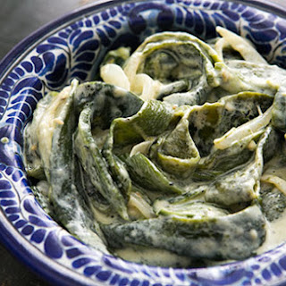 Roasted Poblanos in Cream Sauce (Rajas con Crema)