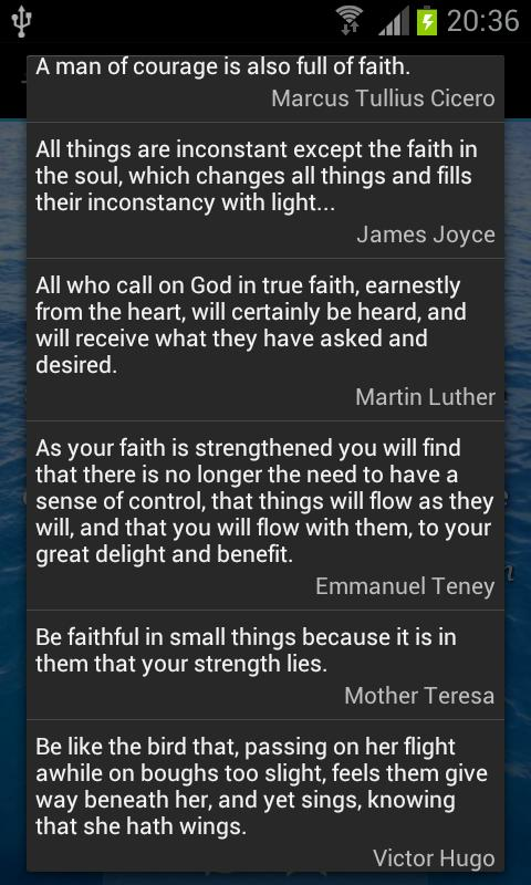 Faith Quotes - screenshot