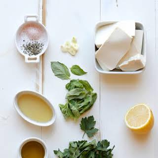 Creamy Vegan Herb Salad Dressing.