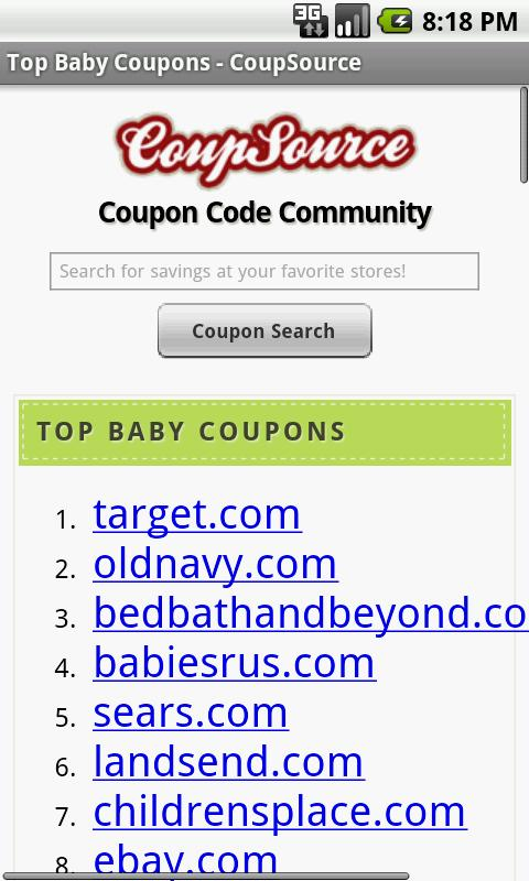 Baby Coupons, Diaper Deals Mom - screenshot