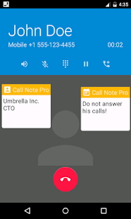 Call Note Pro Screenshot