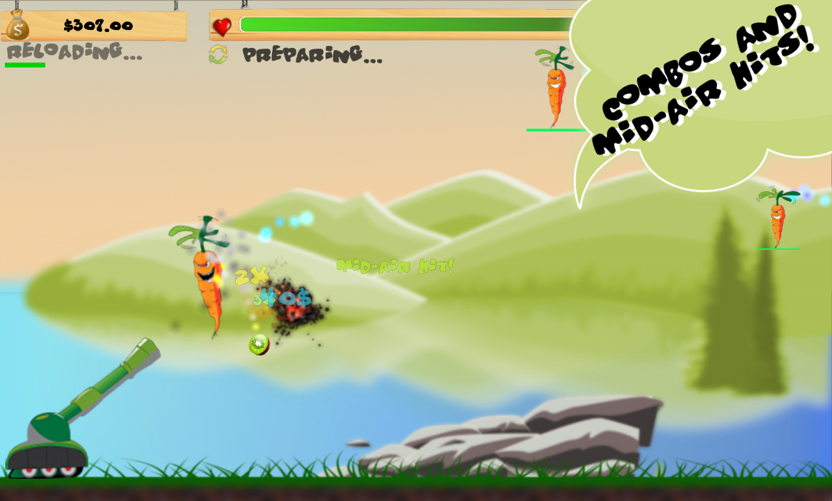 Invasion of the Veggies - screenshot