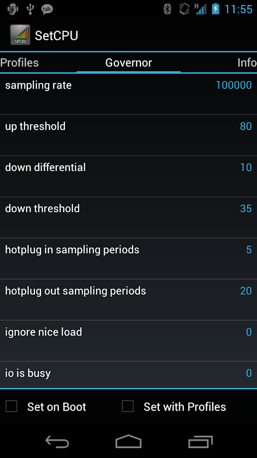 SetCPU for Root Users Screenshot 2