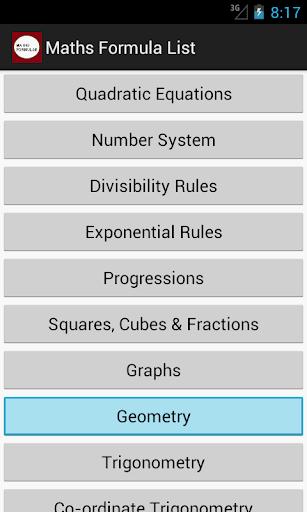Maths Formulas Pro