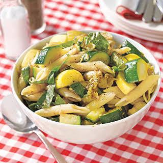 Pasta Salad with Eggplant, Zucchini and Squash.