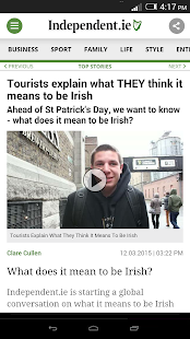 Irish Independent News - screenshot thumbnail