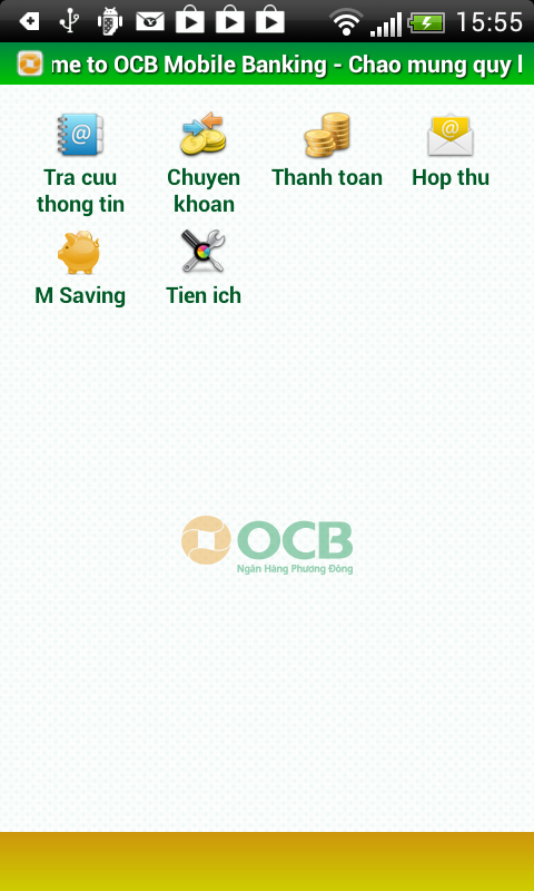 OCB Mobile - screenshot