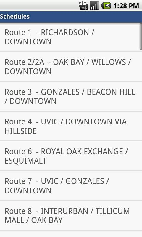 BCBus - BC bus schedules - screenshot