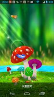 Screenshot of Mushrooms 3D Live Wallpaper