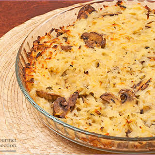 Shredded Potato and Mushroom Casserole.