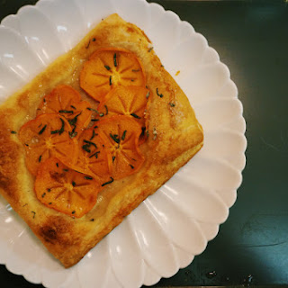 Fresh Persimmon Tart with Sage Sugar