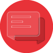 EvolveSMS Transparent Red