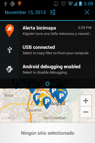 Bicimapa- screenshot