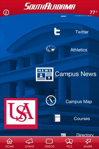 University of South Alabama - screenshot