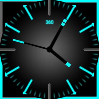 玩個人化App|Cyan Glow Watch Face免費|APP試玩