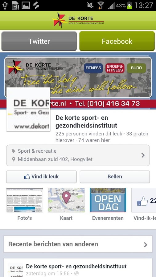 de Korte Sport - screenshot
