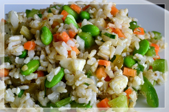 Rice Salad with Vegetables and Feta Cheese Recipe