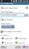 Screenshot of Background image switcher
