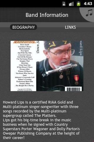 Howard Lips Music - screenshot