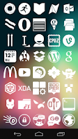 Screenshot of Stamped White Icons