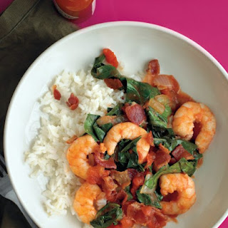 Shrimp with Bacon and Collards
