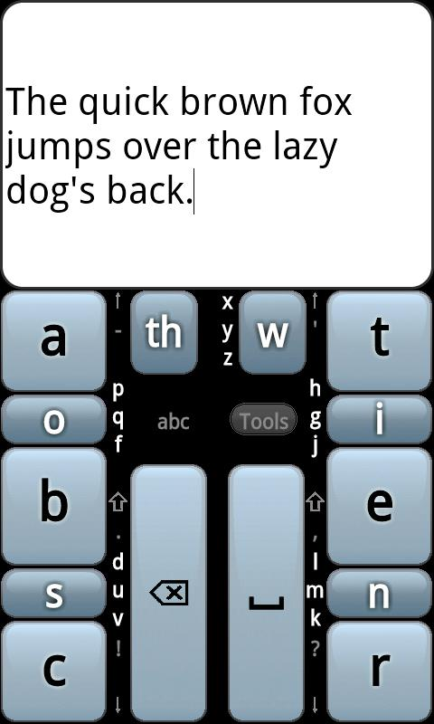 Chorded Keyboard - GKOS - screenshot