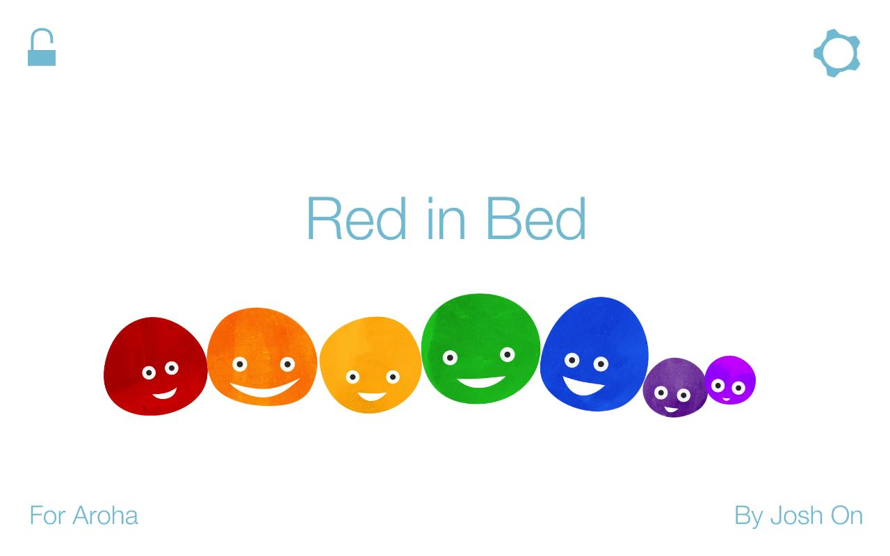 Red in Bed: kids book- screenshot
