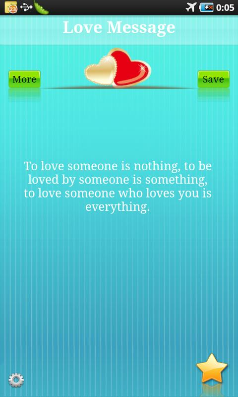 Love message - screenshot
