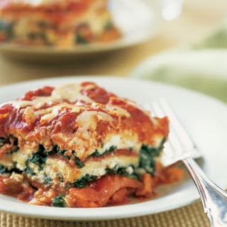 Spinach and Roasted Red Pepper Lasagna.