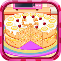 Cooking banana split cake icon