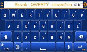 Screenshot of SlideIT Slovak QWERTY Pack