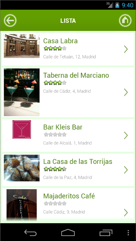 Madrid y Restaurantes - screenshot