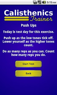 Calisthenics Trainer- screenshot thumbnail