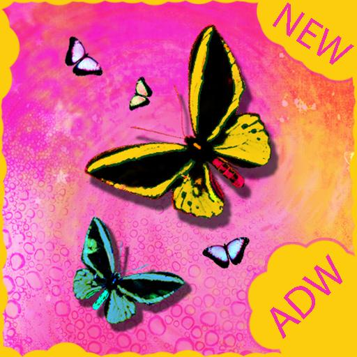蝴蝶主題為ADW 個人化 LOGO-玩APPs