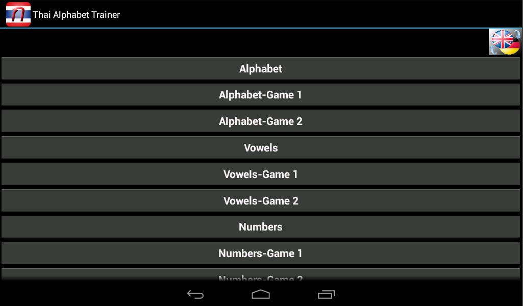 Thai Alphabet Trainer Android Apps on Google Play – Thai Alphabet Chart
