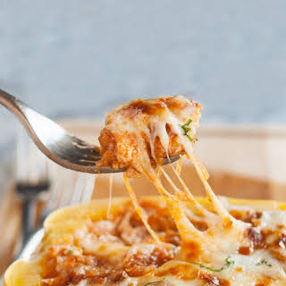 Lasagna-Stuffed Spaghetti Squash.