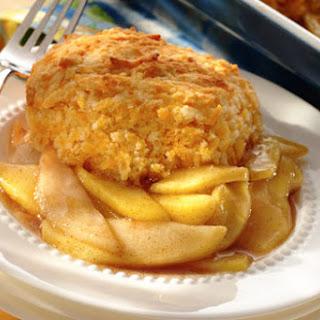 Harvest Pear & Apple Cobbler with Cheddar Dumplings.