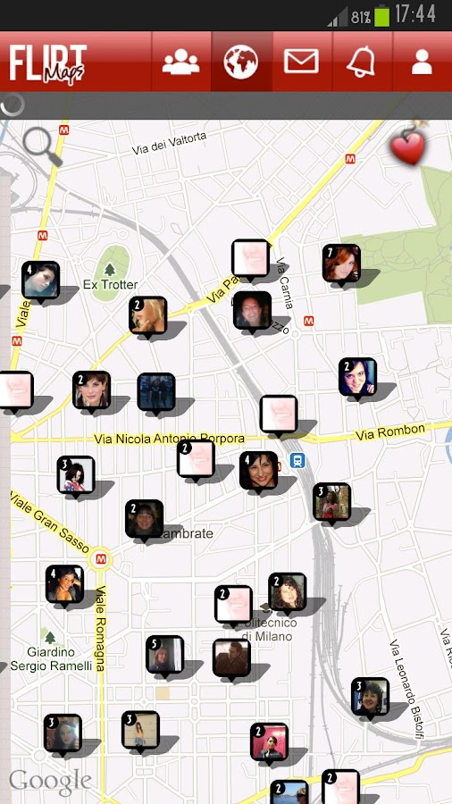 Flirt Maps - screenshot