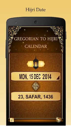 Hijri Islamic Date - Gregorian