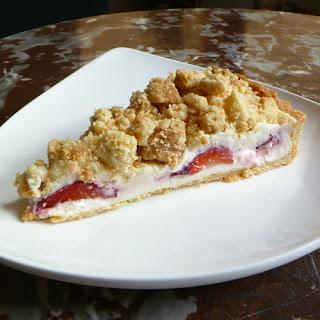 Strawberry Cream Cheese Crumble Tart.