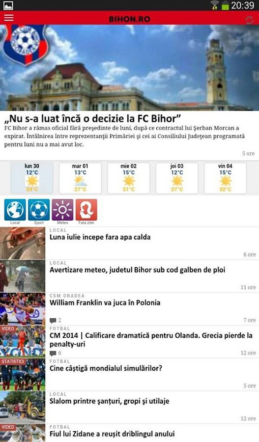 Bihor Online - bihon.ro - screenshot