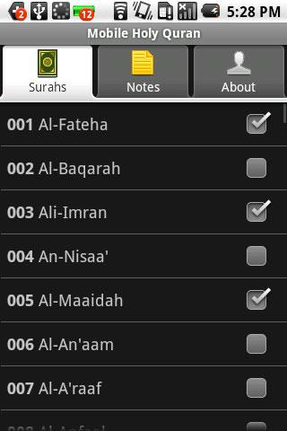 Mobile Holy Quran - screenshot